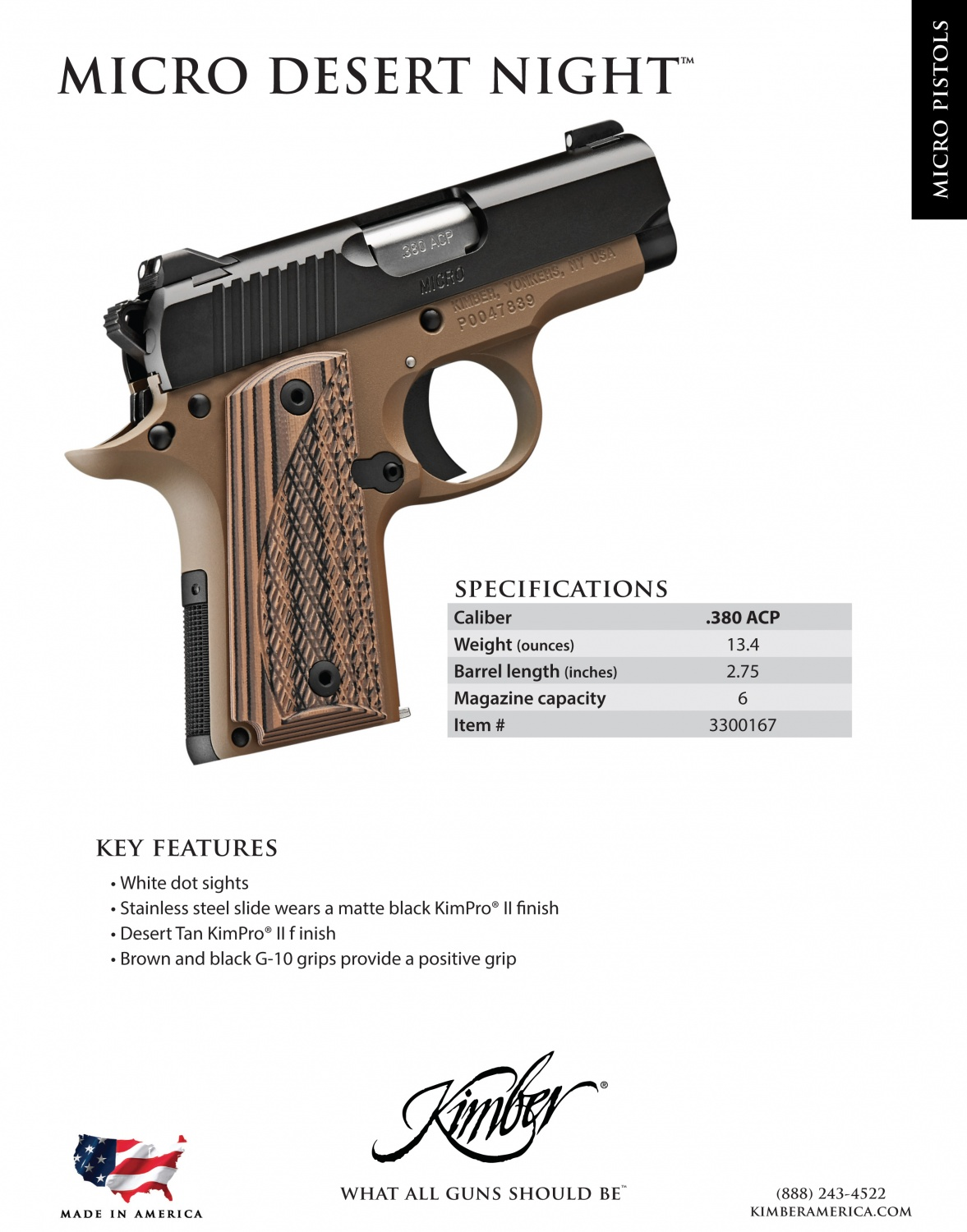 Kimber Expands Their Micro/Micro9 Line Of Pistols -The