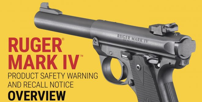 RECALL: Ruger Issues Safety Warning For MKIV Pistols -The