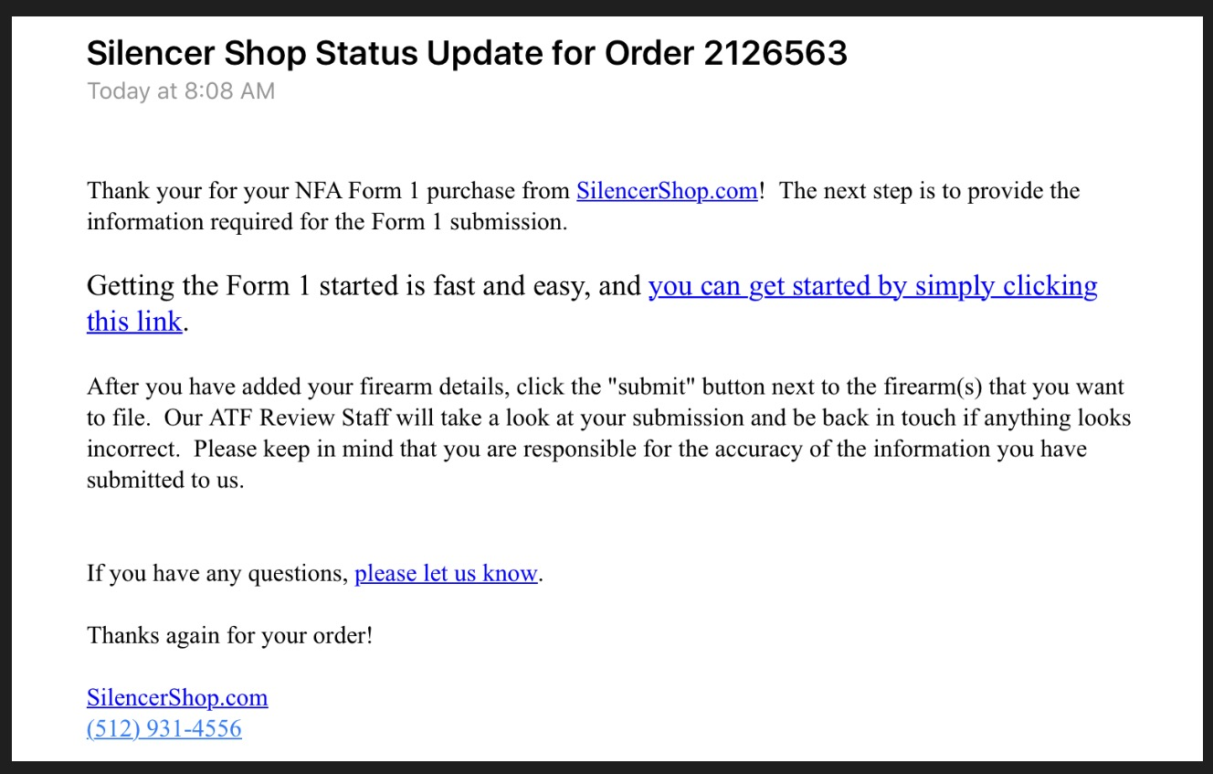 EForms For ATF Form 1 Applications - This Time Via Silencer Shop ...