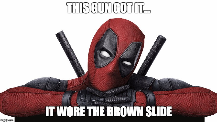 brown slide deadpool