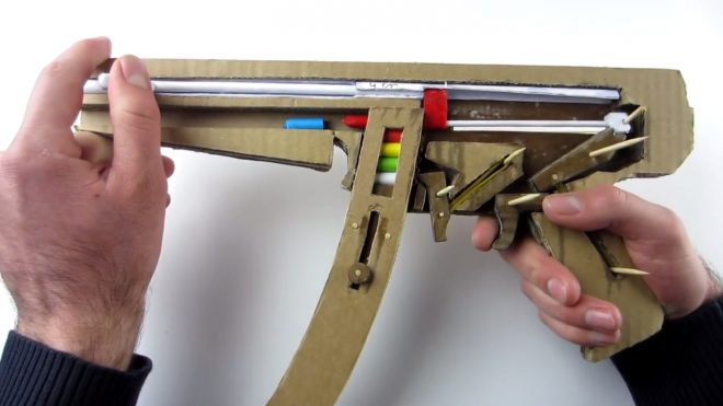 diy cardboard mp5 that shoots paper bullets the firearm blog