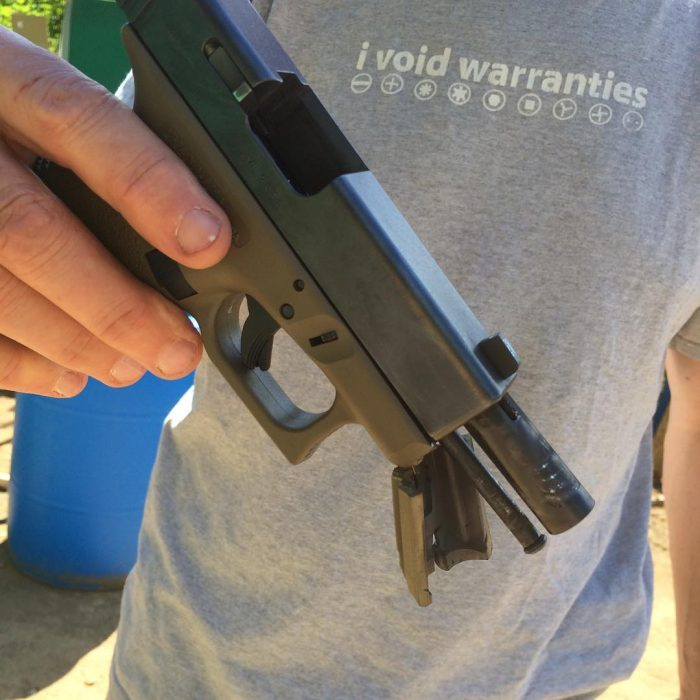 POTD: Ported Barrel Destroys Glock - The Firearm BlogThe Firearm Blog