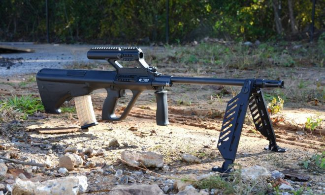 """AUGtober - Steyr AUG with 24"""" barrel and folding bipod -The Firearm Blog"""