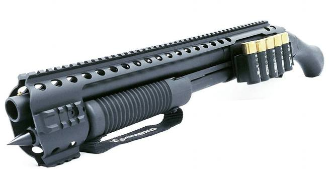 Black Aces Tactical Quad Rail And Side Shell Holder For