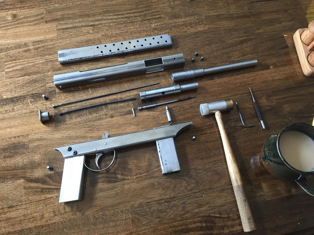 Homemade Semi-Auto P A Luty Machine Pistol (LOTS OF PHOTOS) -The