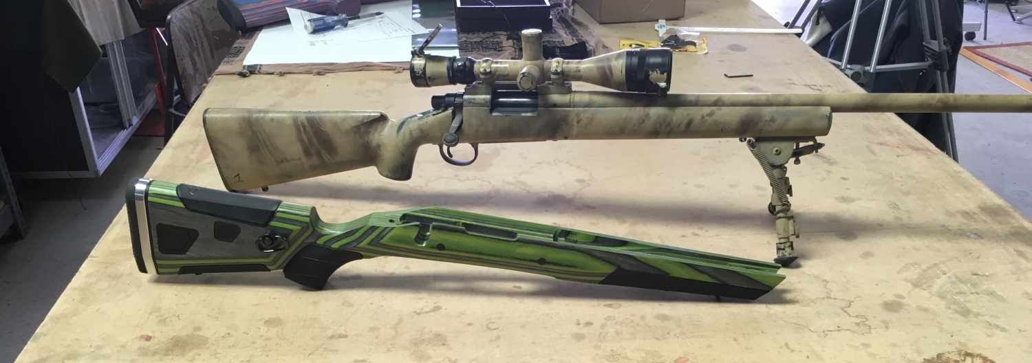 Remington 700 prior to install into the Boyds At-One laminate gunstock