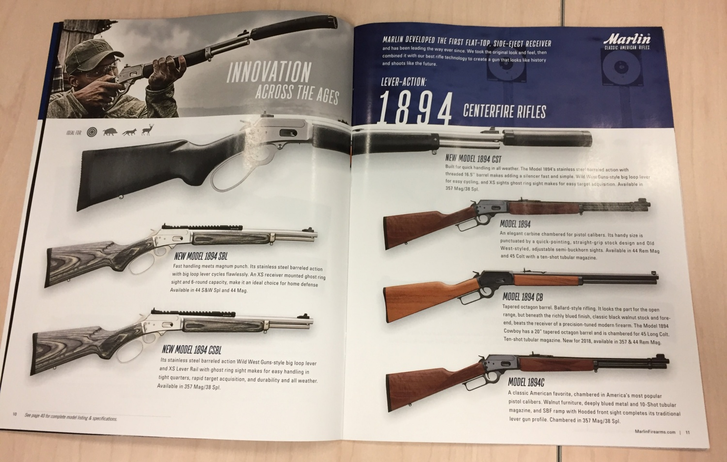 NEW MARLIN LEVER GUNS: Threaded 1894CST And More -The Firearm Blog