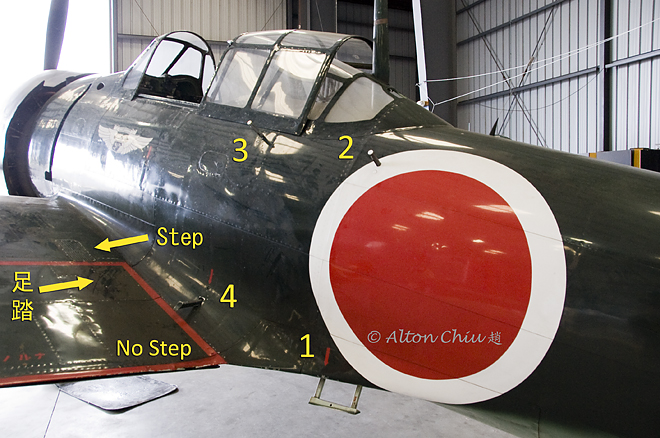 CAF A6M3 Zero no step areas and hand holds