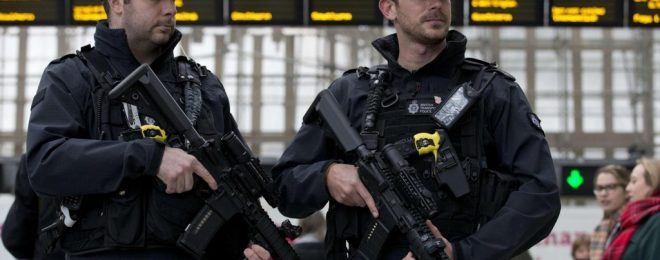 British Transport Police armed