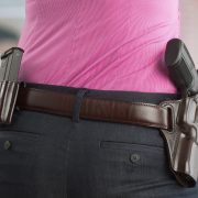 Woman with Galco holster