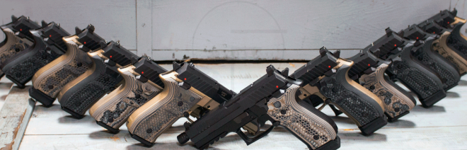 NEW Rex Zero 1 Pistols with Hogue G10 Mascus Grips & Colored