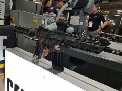 Cerakote had several examples of what's possible on display.