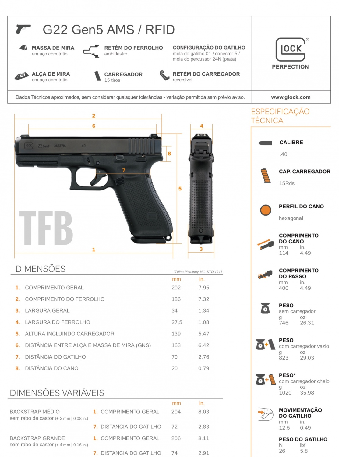uncovered gen5 glock 22 with manual safety in s o paulo brazil rh thefirearmblog com glock 22 manual safety glock 22 cleaning manual