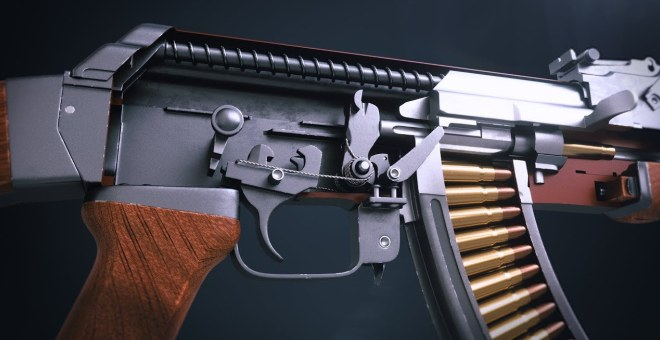 3D Animation Showing How the AK 47 Mechanism Works The