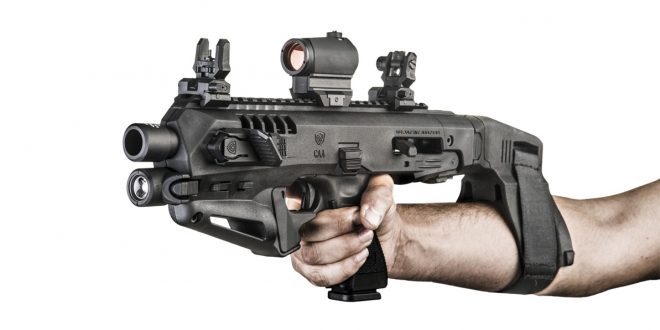 You Can Shoulder the Micro Roni Stabilizer -The Firearm Blog