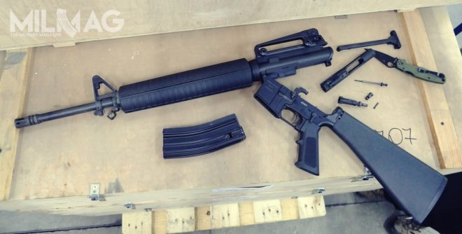 Disassembled PAC AR-15