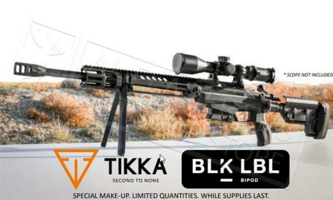 Tikka T3x TAC A1 BLK LBL Special Edition with Integrated