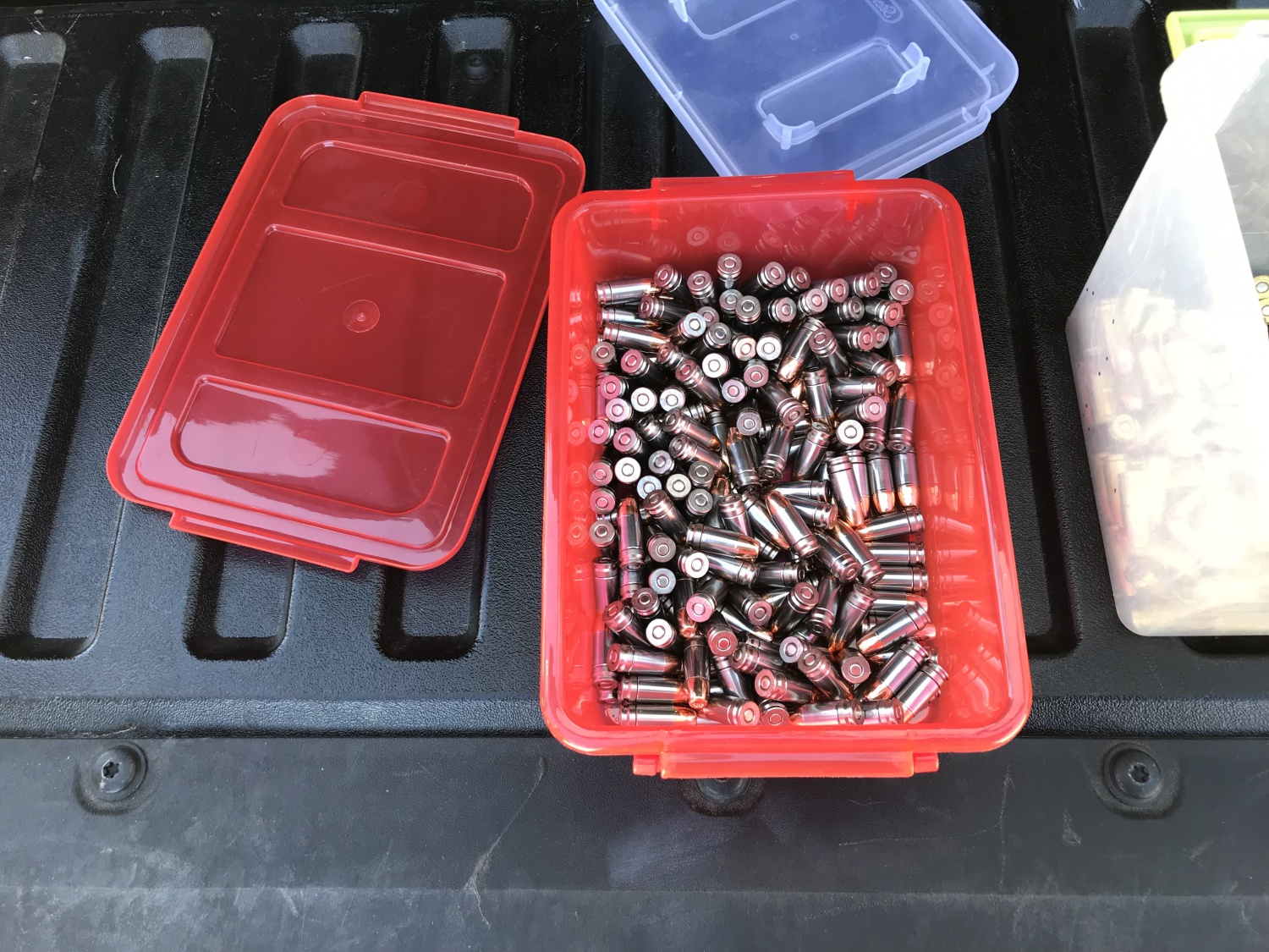 One of many containers of rounds this author loaded using the S3 Reload for testing.