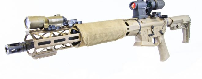 A custom rifle configured for 2 and 3 gun competition by KE Arms.