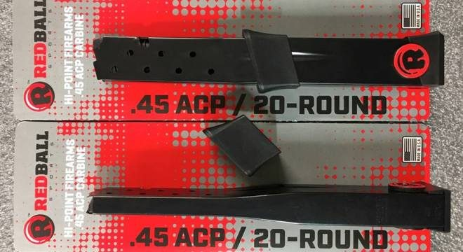RedBall Sports  45 ACP 20 Round Magazines for Hi-Point
