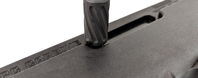 TACCOM Extended Charging Handle and Magazine Well for RUGER PC Carbine (2)