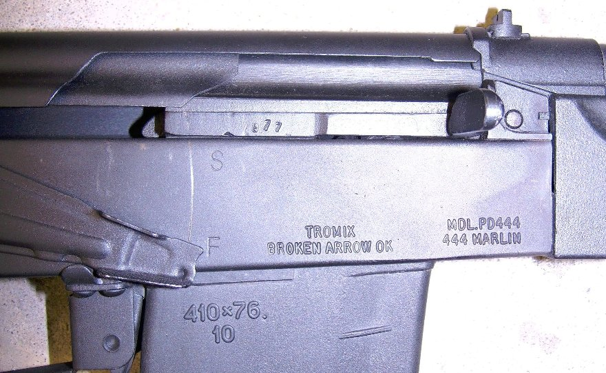 Tromix Protoype Saiga-410 Converted to a Rifle Chambered in .444 Marlin (2)