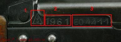 This is what a normal Soviet AKM serial number looks like.