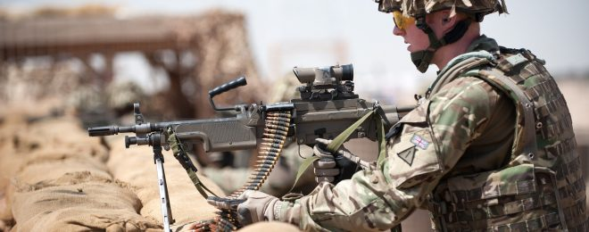 Soldier with L110A2