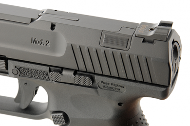 The TP9SA Mod.2 is a striker-fired pistol with a smooth single action trigger delivering premium accuracy and faster than ever follow-up shots.