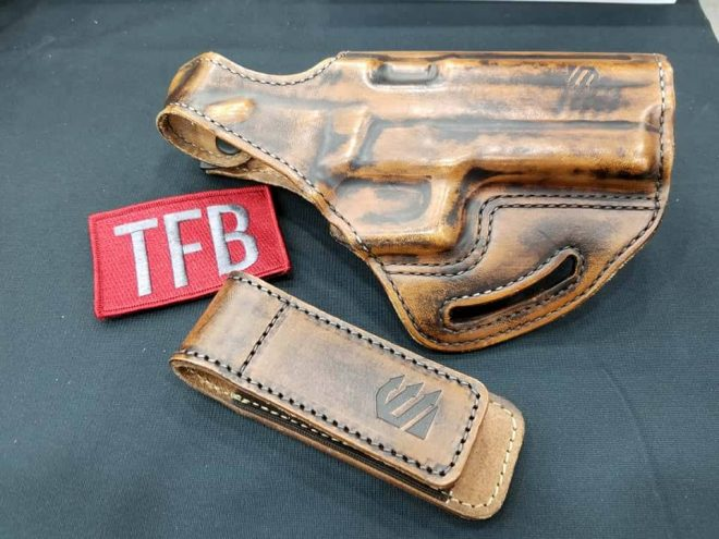 Blackhawk's Premium Leather Holsters and New Tech Grip Mag Pouches