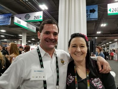 Rachel at SHOT Show 2018 with Bill Romanelli of Project ChildSafe.