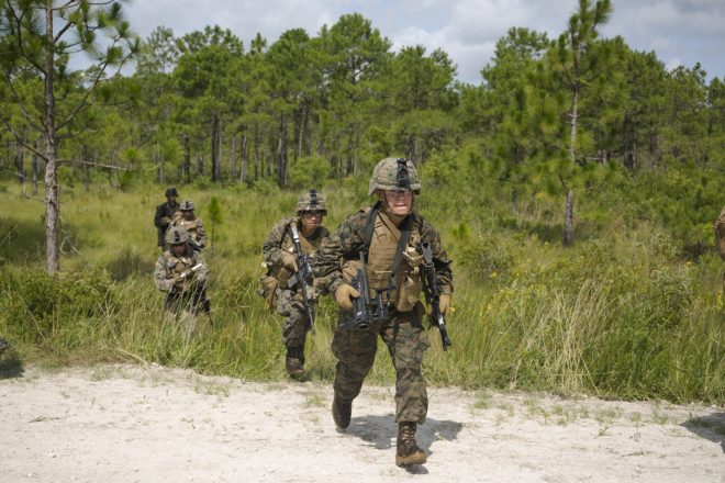 Marines with M320