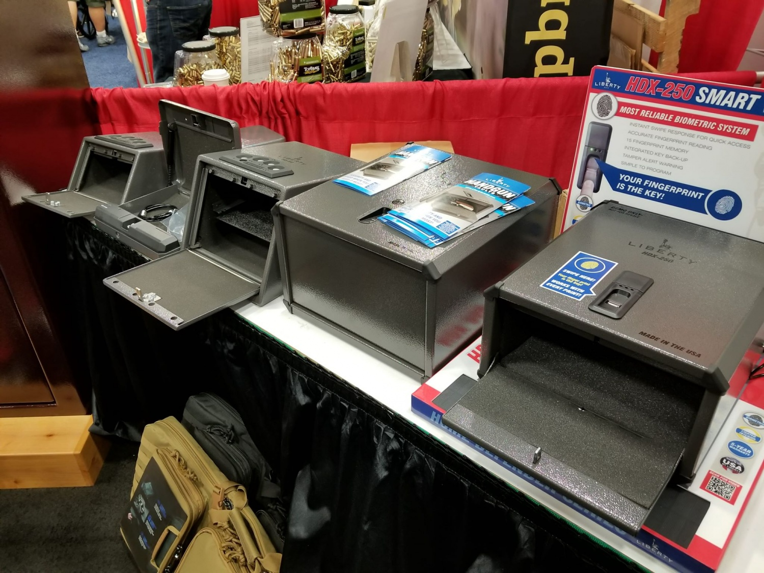 """Handgun vaults range in size and price, based on what the customer needs the safe to """"do""""."""