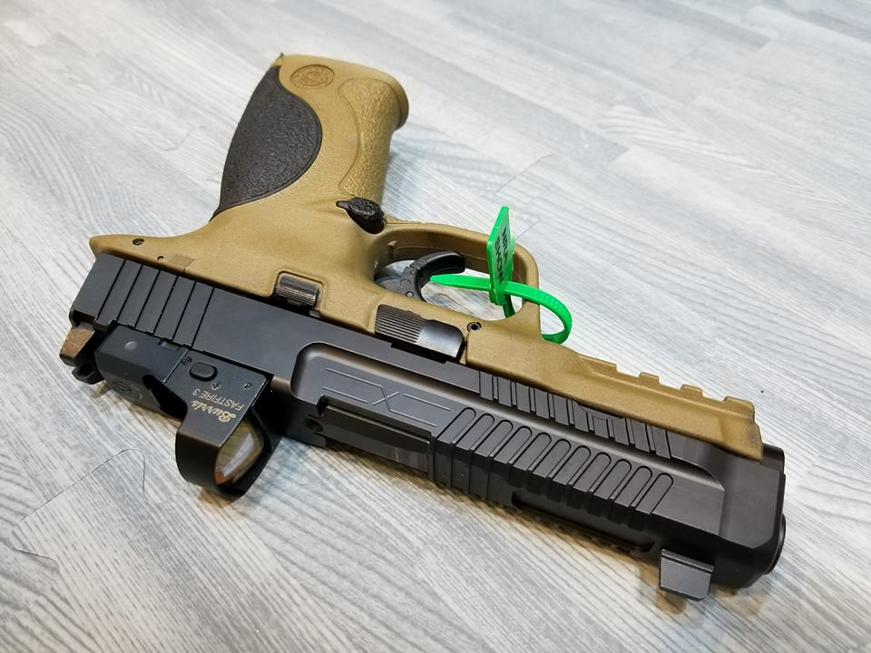 Faxon's Patriot slide has machined post in the optic cuts for optic locating and recoil absorption.