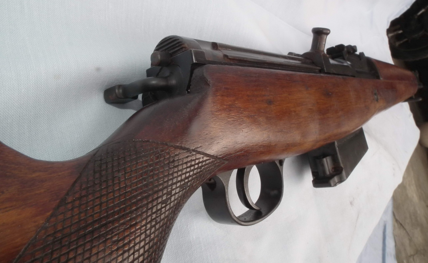 A departing picture of the AGR prototype. Note checkering of the stock grip area.