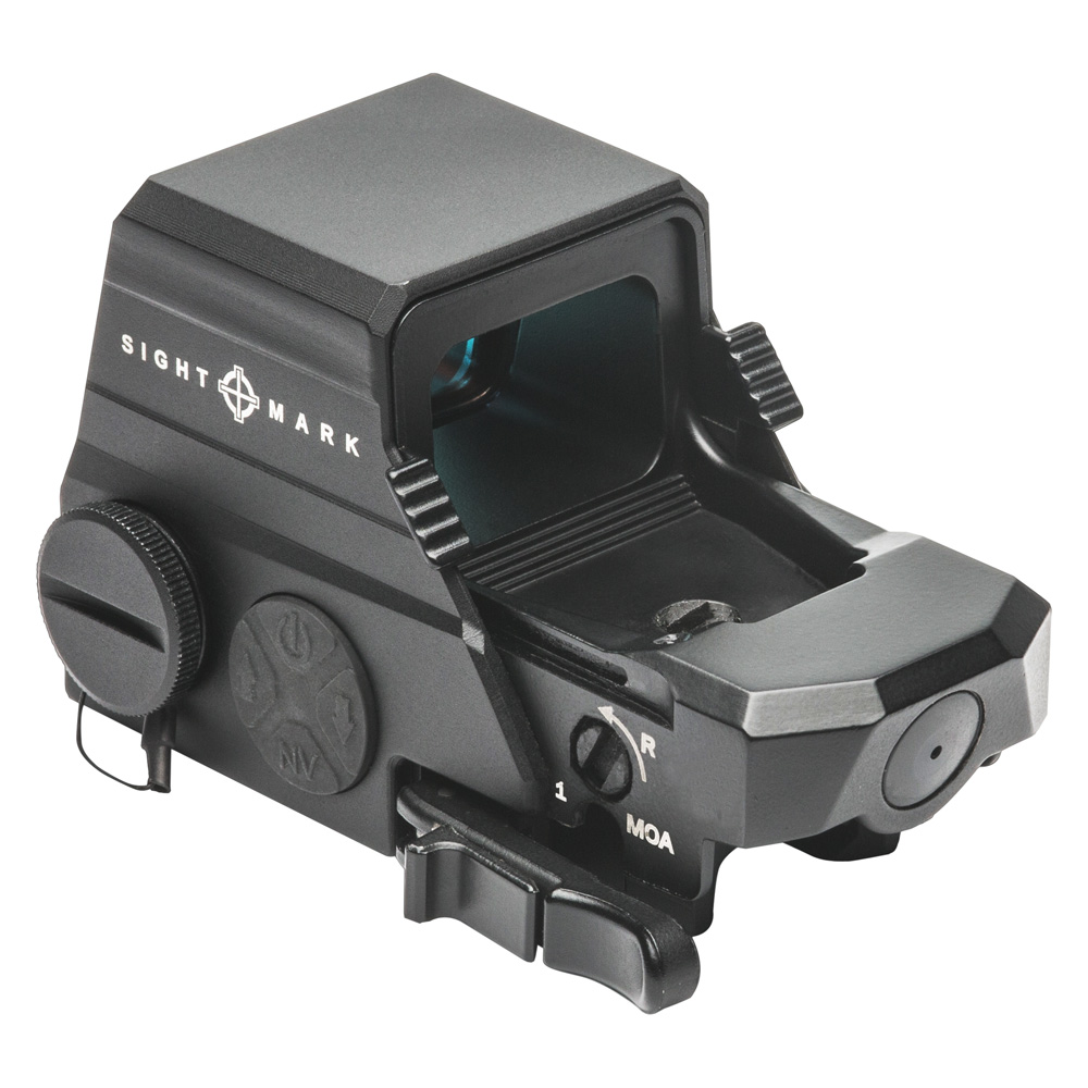 The Ultra Shot M-Spec LQD is waterproof up to 40 ft. and is able to withstand up to .50 BMG caliber recoil. It also features motion sensing activation (5 min. shutoff w/ motion activation, 12-hour auto-off) to conserve battery life but still keep the optic ready for when it needs to be.