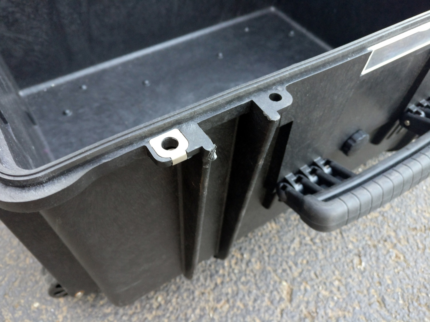 Both the hinge and hasp assemblies are extremely robust on Explorer Case products