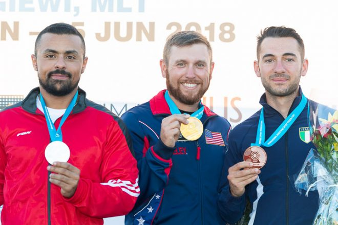 2018 malta ISSF world cup skeet medalists