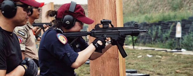 China SMG 9mm training