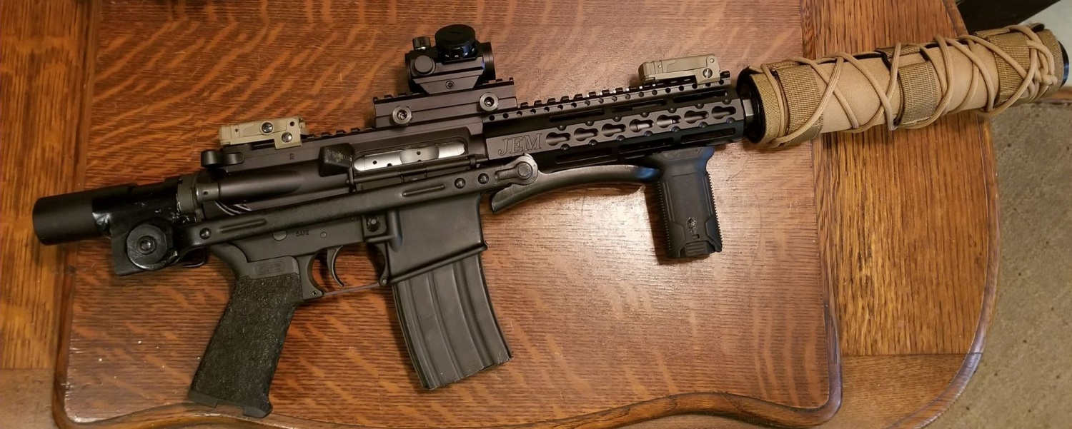 AR-15 with an AK-47 Underfolder Stock! Why not (4)