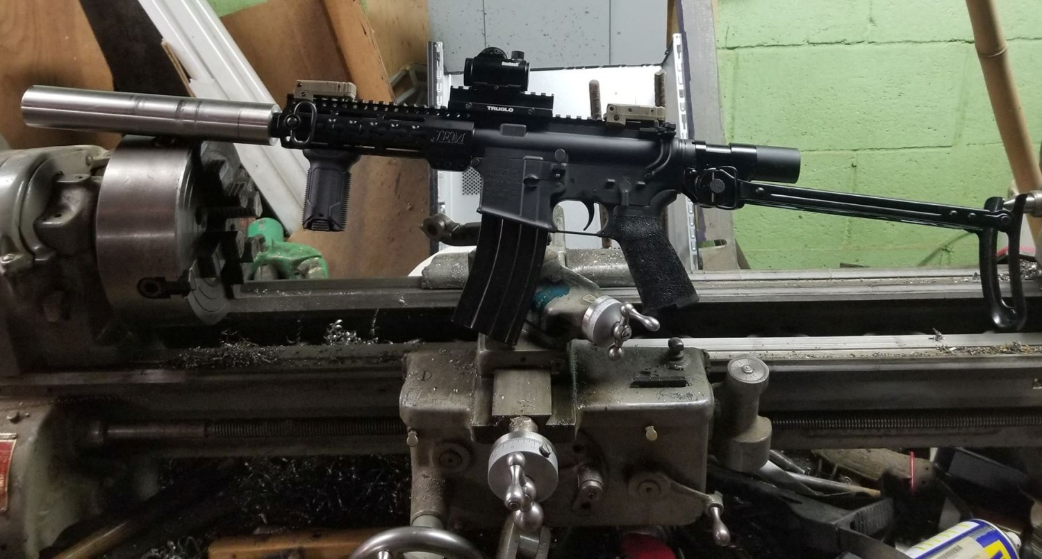 AR-15 with an AK-47 Underfolder Stock! Why not (9)