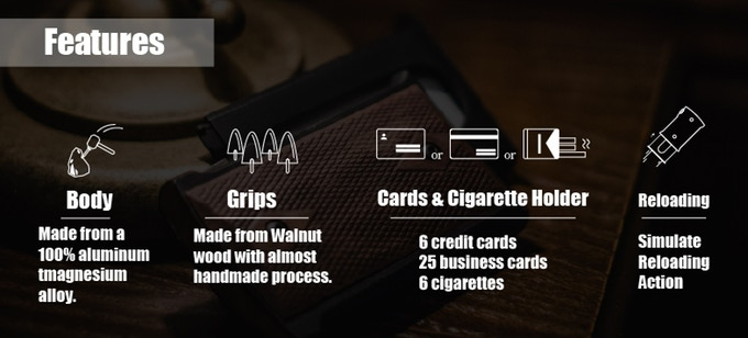 Card Holder Replicating a 1911 Grip and Magazine (M1911-H) (1)