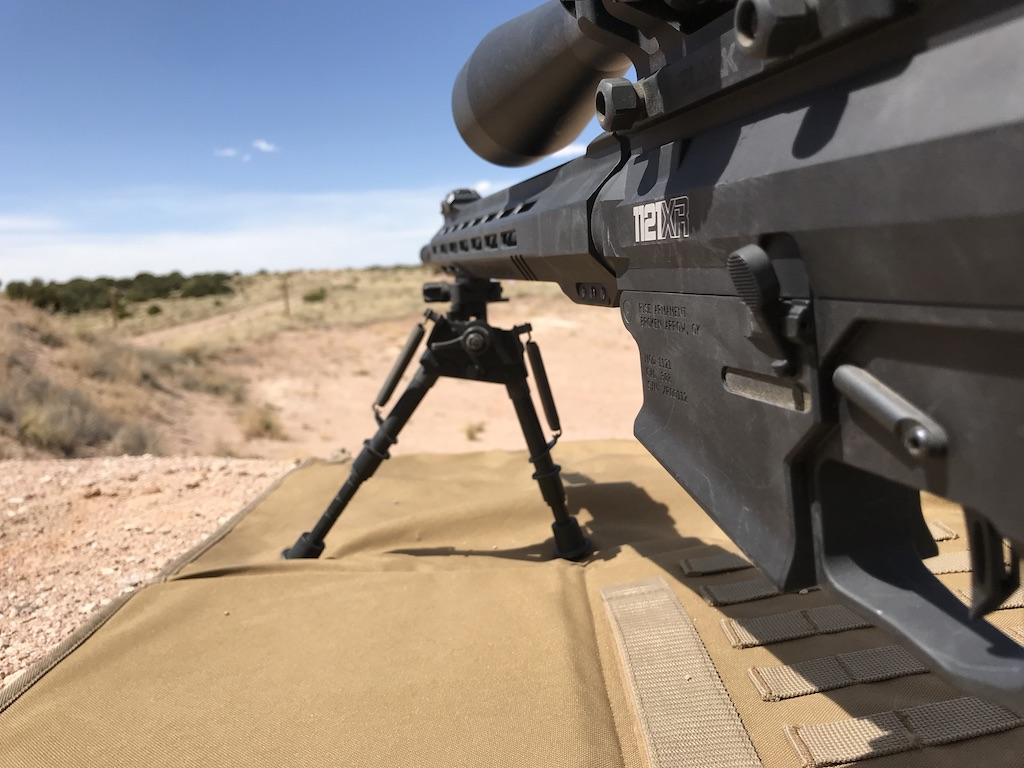 You can see the ZRODelta bipod is cattywampus. The rifle was level. I purposely did this to play with the bipod and it handled all the crazy I could throw at it.