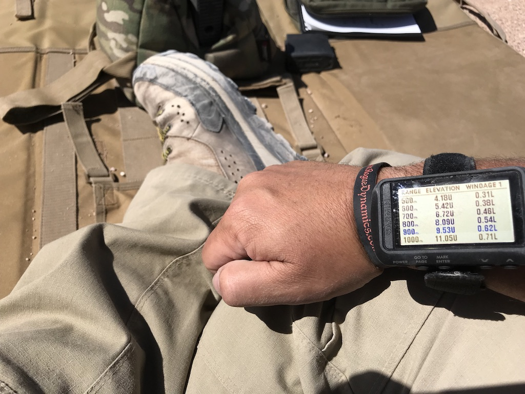 The Garmin Foretrex 701 has the ability to do an awesome range card. If you have time to set it up, running a course is a breeze.