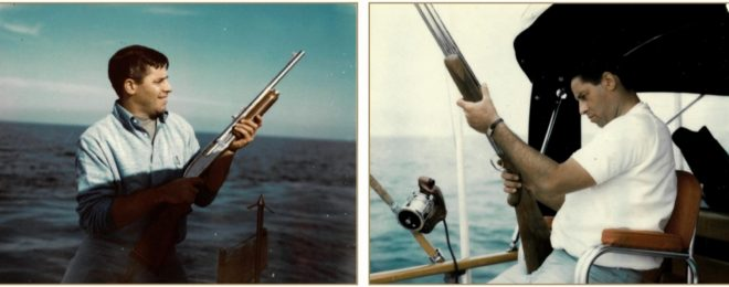 Jerry Lewis with his shotguns