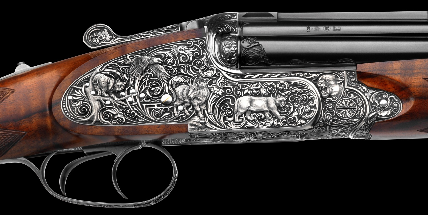Johann Fanzoj Vierling Four-Barrelled Rifle-Shotgun (4)
