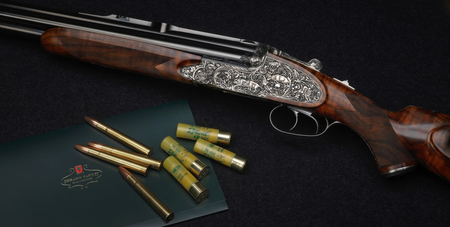 Johann Fanzoj Vierling Four-Barrelled Rifle-Shotgun (5)