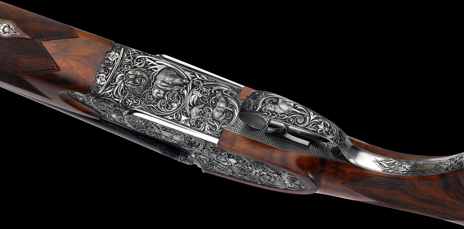 Johann Fanzoj Vierling Four-Barrelled Rifle-Shotgun (6)