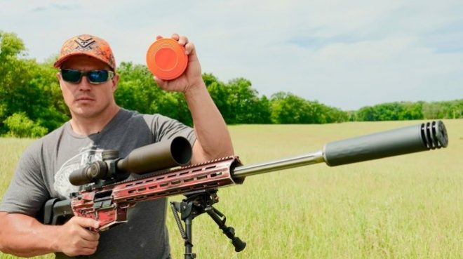 Shooting Flying Clay Target ... At 300 Yards ... With 6.5mm Creedmoor
