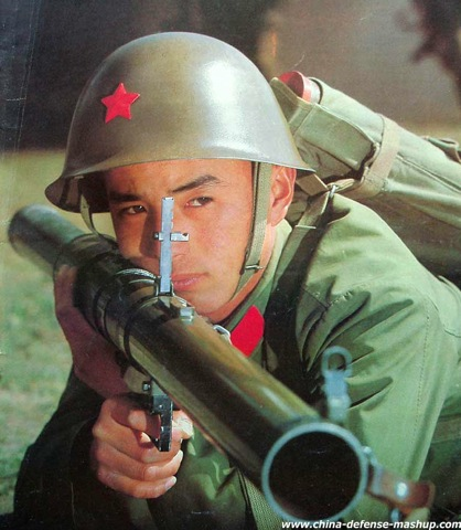 A soldier aiming with Type-70